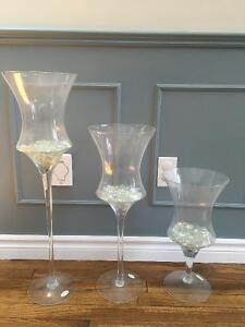 Large glass decor vases- REDUCED PRICE London Ontario image 1