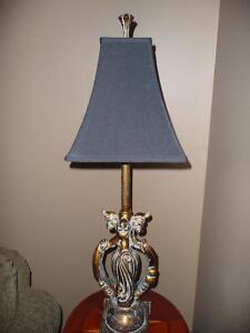 Gold crackle finish table lamp for sale