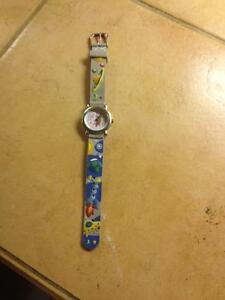 KIDS WATCH VINYL WASHABLE PLANETS & ROCKET DIAL