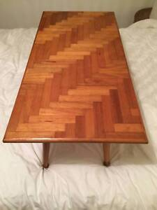 MID-CENTURY PARQUETRY COFFEE TABLE Rozelle Leichhardt Area Preview