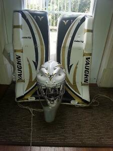 Vaughn street hockey pads and helmet