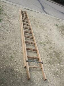 For Sale 26 foot industrial heavy duty wooden extension ladder.