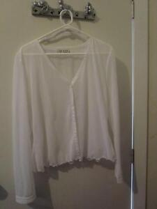 Women's Size 18 D.I.O. White See-Through Jacket (Worn Once) Campbell North Canberra Preview