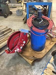 Aurora Pneumatic Grease Pump and Hose Reel  $500. O.B.O. Cambridge Kitchener Area image 1