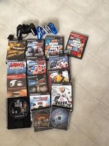 15 Games for Playstation 2 with 2 controllers