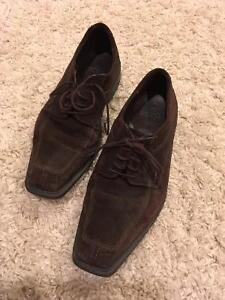 ecco suede men's shoes - like new!!!