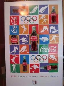 OLYMPICS COCA-COLA ART POSTER - FOR THE COLLECTOR