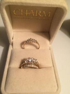 Rings and wedding dress