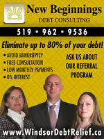 Debt Relief up to 80%! Get Out of Debt & Avoid Bankruptcy!