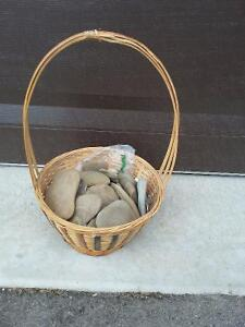 Decorative basket with stones London Ontario image 1
