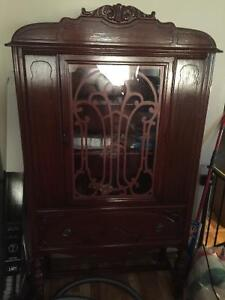 Ornate antique hutch