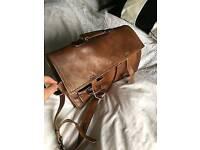 Tan Leather Satchel/Briefcase - BARGAIN £15