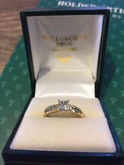Diamond Engagement and Wedding band rings