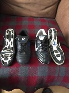 2 pairs of soccer cleats size 2 & size 3