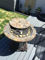 Tiled fire table