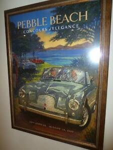 Pebble Beach Concours d'elegance 2007 poster and book