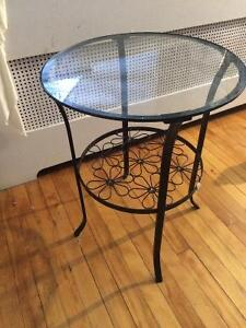 Glass round table from ikea for sale