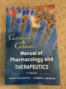 NEW Goodman and Gilman Manual of Pharmacology & Therapeutics Strathcona County Edmonton Area image 1