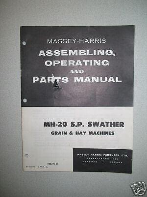 Massey-harris Mh-20 S.p. Swather Manual