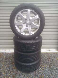 Set of Mercedes SLK 230 R170 Wheels & Tyres 16x7 & 16x8 5x112