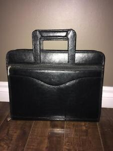 Leather binder briefcase