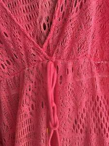Reduced- Sexy coral knitted Florida wear beach dress Windsor Region Ontario image 3