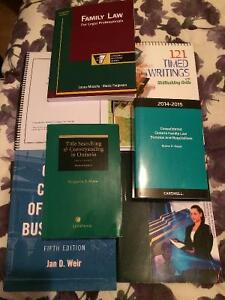 Humber College Law Clerk Textbooks for Sale