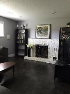 AVAILABLE SEPT. 1.  UPSCALE FURNISHED Daylight Basement Suite