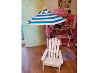 Kidkraft Children Chair with umbrella. Ex display item.