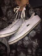 White Lacoste mens 8uk shoes Granville Parramatta Area Preview