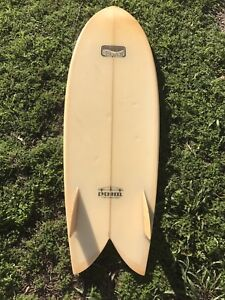 Channel Islands Even Keel twin fin fish surfboard Byron Bay Byron Area Preview