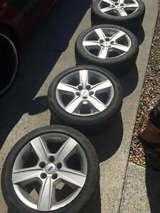 4 X Genuine Ford Falcon BA BF tyres and rims Upper Coomera Gold Coast North Preview