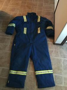 HRC 1 nomex FR insulated winter coveralls