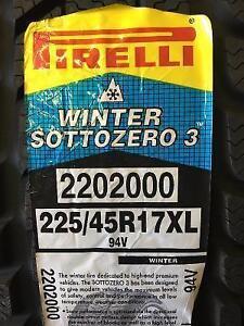 Brand New Pirelli Winter Sottozero 3 225/45R17XL