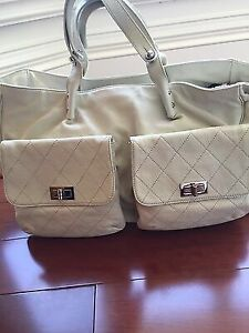 100% AUTH CHANEL Caviar Leather WeekenderXL Tote Bag 2.55