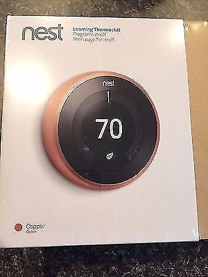 Nest Copper 3rd generation Learning Thermostat (BRAND NEW)
