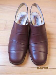 Women shoes brown leather size 7.5