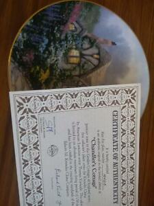 Collector's Dish- Chandler's Cottage by Thomas Kinkade Prince George British Columbia image 3