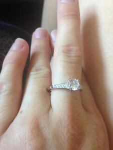 Promise Ring - 925 silver with cubic zirconia Kawartha Lakes Peterborough Area image 5