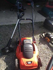 Electric mower and weed eater