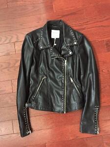 Zara biker studded Jacket Brand New XS