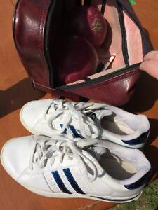 Bowling balls and shoes
