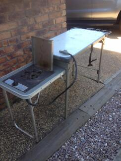 camping kitchen stove in table