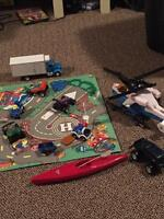 Miscellaneous toy lot. Helicopter.