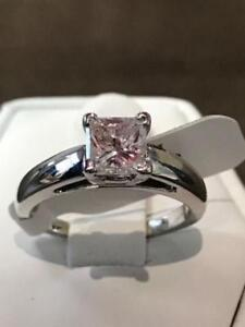 1.00CT PRINCESS CUT DIAMOND ENGAGEMENT RING 70% OFF NOW !!!!!!!!