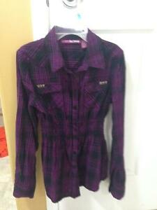 Purple Long Sleeve Shirt sz L