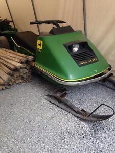 1974 John Deere 300 Snowmobile for sale! Want gone!