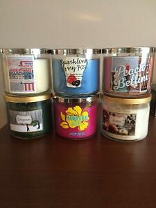 Bath and Body Works Unused 3-wick Candles