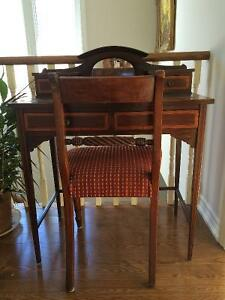 Beautiful Antique English Desk and Chair