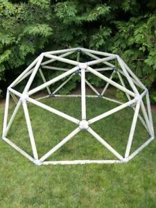 """Oakville GEODESIC DOME 6X3' (72X36"""")  LARGE  Home built Plastic tubes and joiners"""